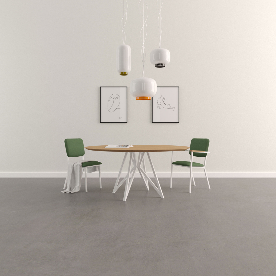 Ronde tafels in eik