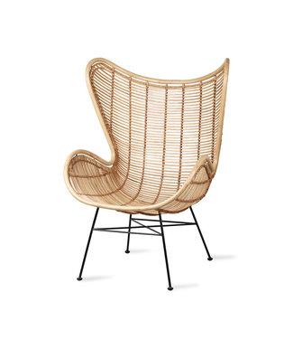 HK Living  Egg chair - Ratan natural