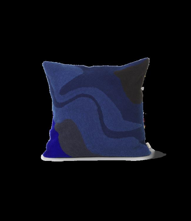 Ferm Living Vista kussen - Dark blue