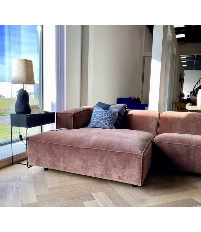 FEST Amsterdam Dunbar 3-zit met lounge - Fluweel Royal magnolia