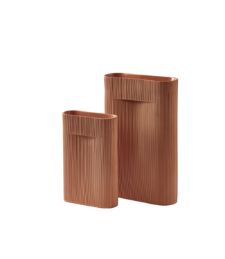 Muuto Ridge Vase - Terracotta
