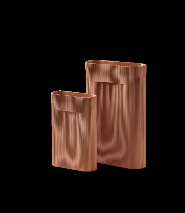 Muuto Ridge Vase - Terracotta