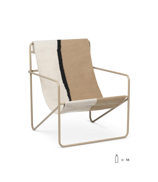 Ferm Living Desert Lounge Chair  - Cashmere frame