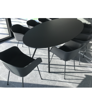 Studio Henk  HPL Fenix ovale eetkamertafel