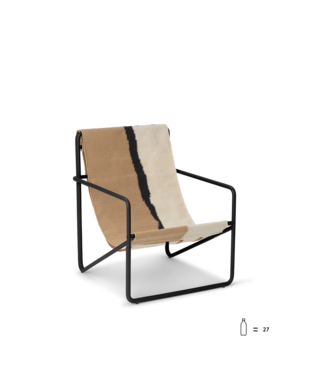 Ferm Living Desert Lounge Chair KIDS  - Zwart frame