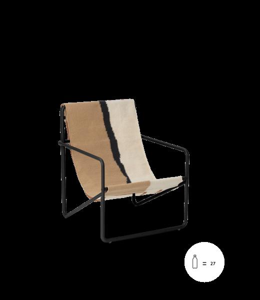 Ferm Living Desert Lounge Chair KIDS  - Zwart frame