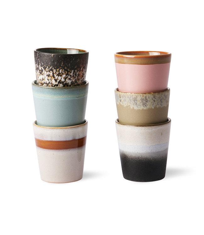 HK Living  70's mugs - set van 6