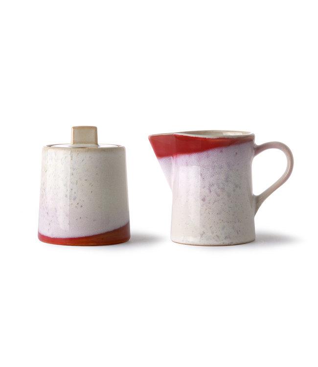 HK Living  70's melk & suiker set