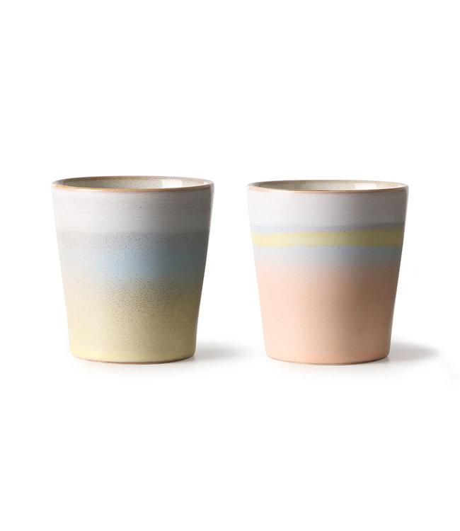 HK Living  Suites special: 70s mugs horizon (set van 2)