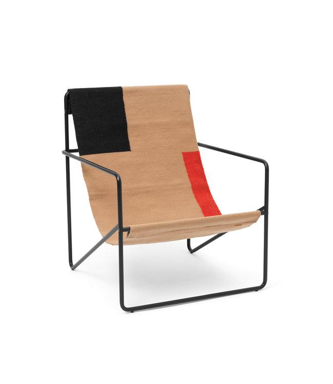 Ferm Living Desert Lounge Chair  - Zwart frame
