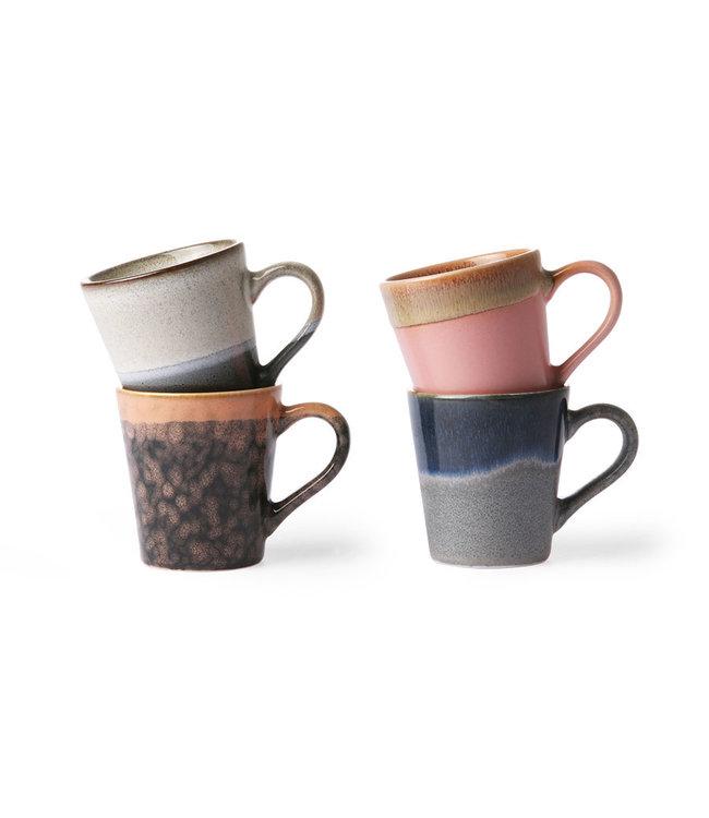 HK Living  Espresso tassen - set van 4