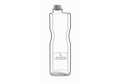 Luigi Bormioli Fles 1 Liter met Dop Optima ( Set van 6 )