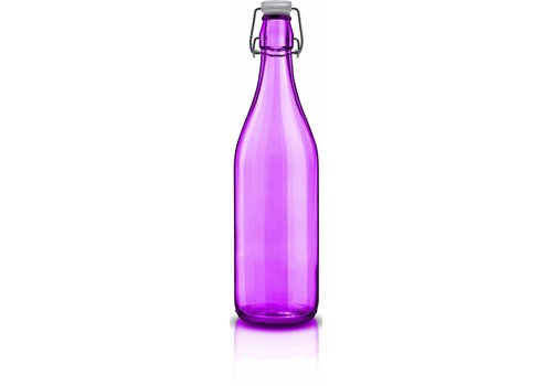 Fles 1 Liter met Beugel Violet Lella ( Set van 6 )