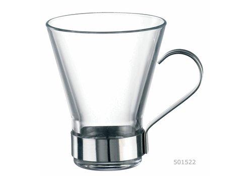 Koffie-/ Theeglas 22cl Ypsilon met Houder ( Set van 3 )