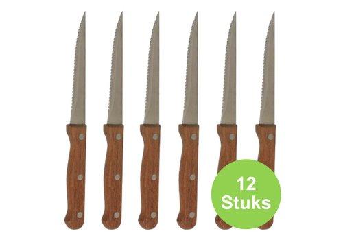 Steakmes Hout ( Set van 12 )