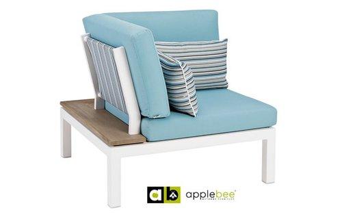 AppleBee tuinmeubelen Apple Bee | Pebble Beach Blauw | Corner