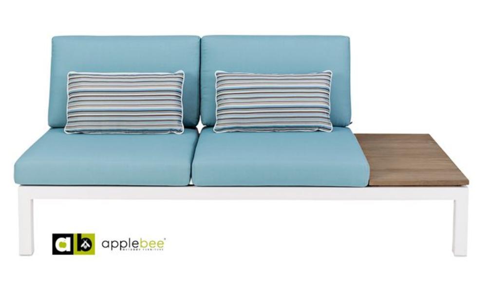 Apple Bee | Pebble Beach Blauw | twee-zits links