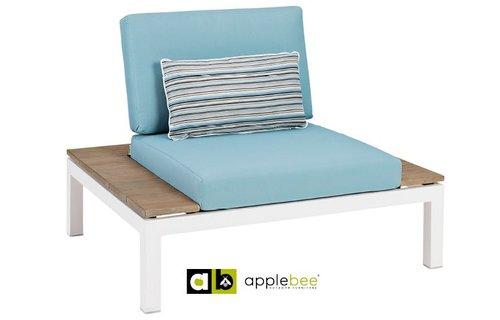AppleBee tuinmeubelen Apple Bee | Pebble Beach Blauw | loungestoel