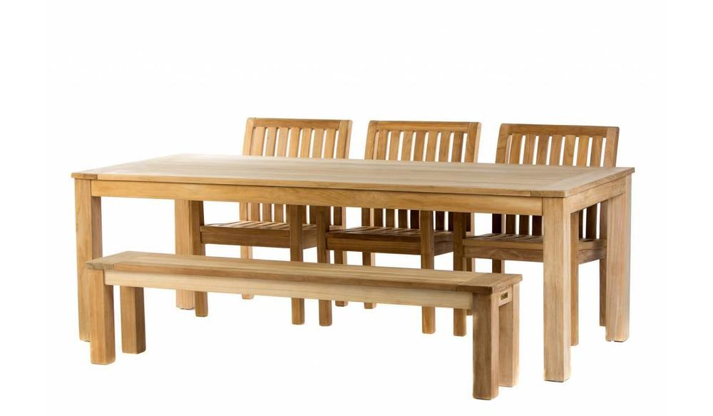 Teak tuinset: James Tafel (240) | Comfort stoel | James bank 190