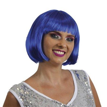 Bobline pruik felblauw