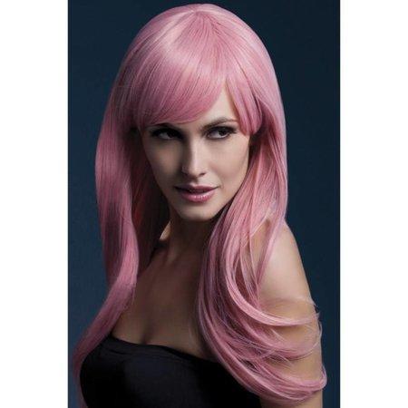Professionele pruik pastel roze Sienna