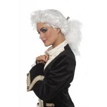 Rococo pruik met staart
