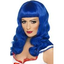 Sweetheart pruik blauw
