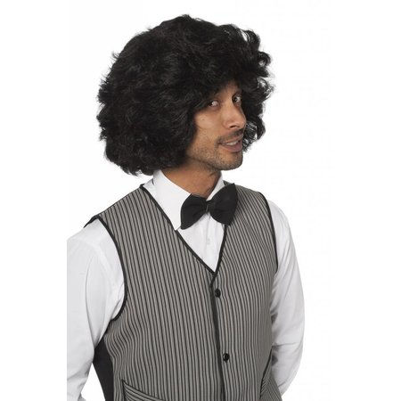 Heren pruik Benni zwart