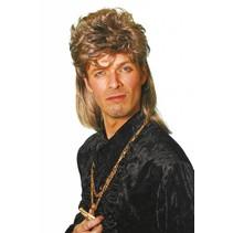 Johnny Tokkie pruik bruin/blond