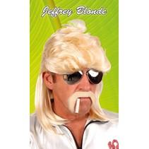 Pruik Aso Jefrrey blond