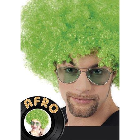 Groene Afro pruik