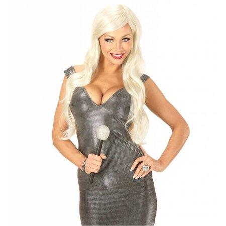 Pruik diva blond popstar