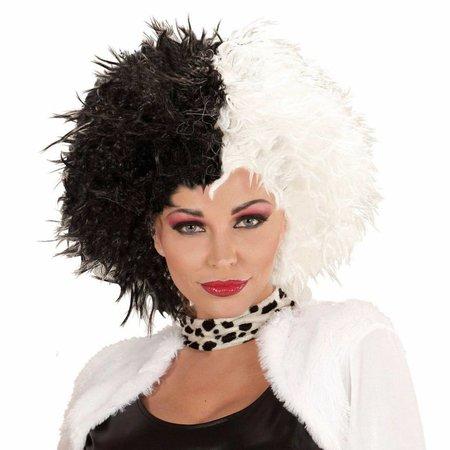 Cruella Pruik Zwart/Wit