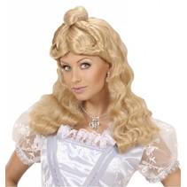 Pruik Western Belle blond