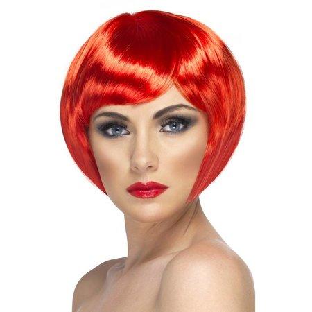 Glamour pruik bobline rood