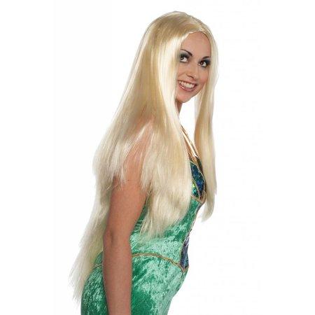 Lange Pruik blond haar Dolce