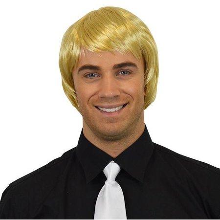 Heren pruik stijl blond kort