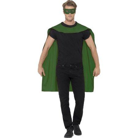 Helden Cape met masker groen