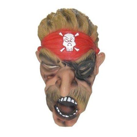 Masker halloween piraat + snor foam