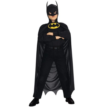 Batman cape met hoofdmasker kind