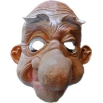 Masker rubber Opa met grote neus