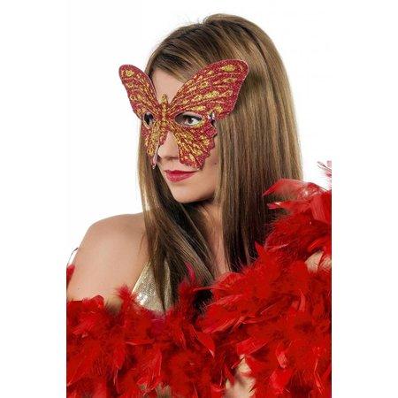 Masker vlinder rood