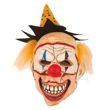 Halloween Clownsmasker met hoedje