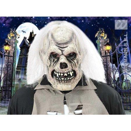 Masker verrotte schedel met pruik