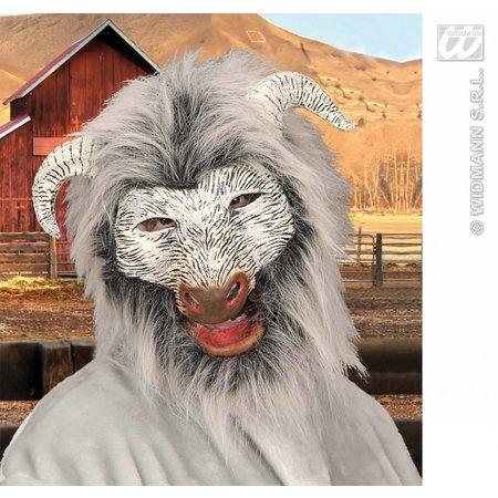 Masker geit met pluche haar