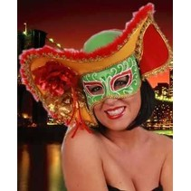 Oogmasker dames Venetie met hoed