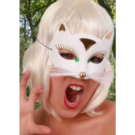 Oogmasker kat luxe klein wit