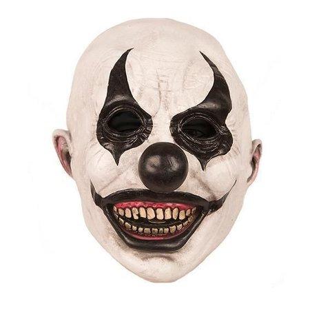 Masker Horror Clown Zwart Wit