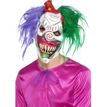 Crazy color killer clown masker