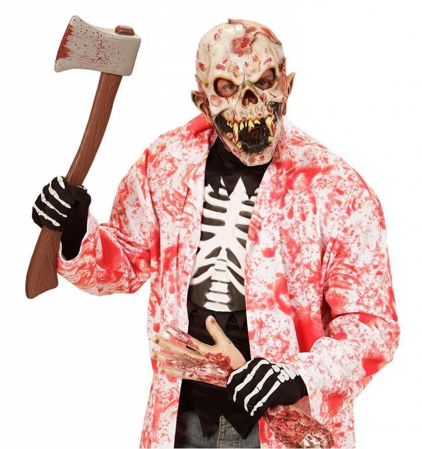 Halloween Masker.Halloween Masker Menseneter 123feestpruiken Nl